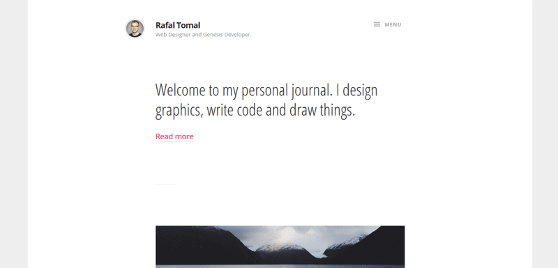 Check out this free child theme: Journal by Rafal Tomal