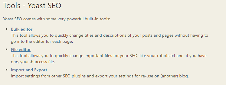 Bulk edit meta titles and descriptions with Yoast
