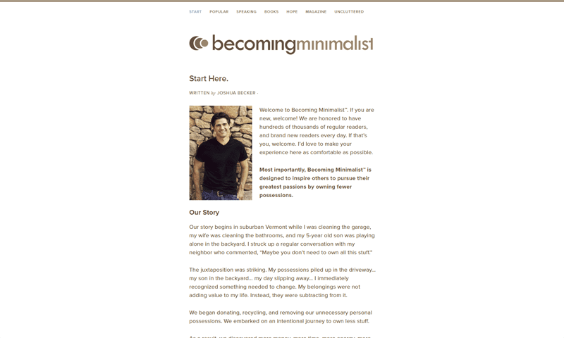 becoming minimalist blog