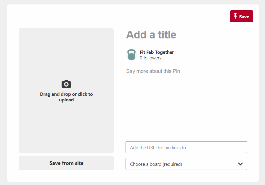 Screenshot: how to add blog post to Pinterest