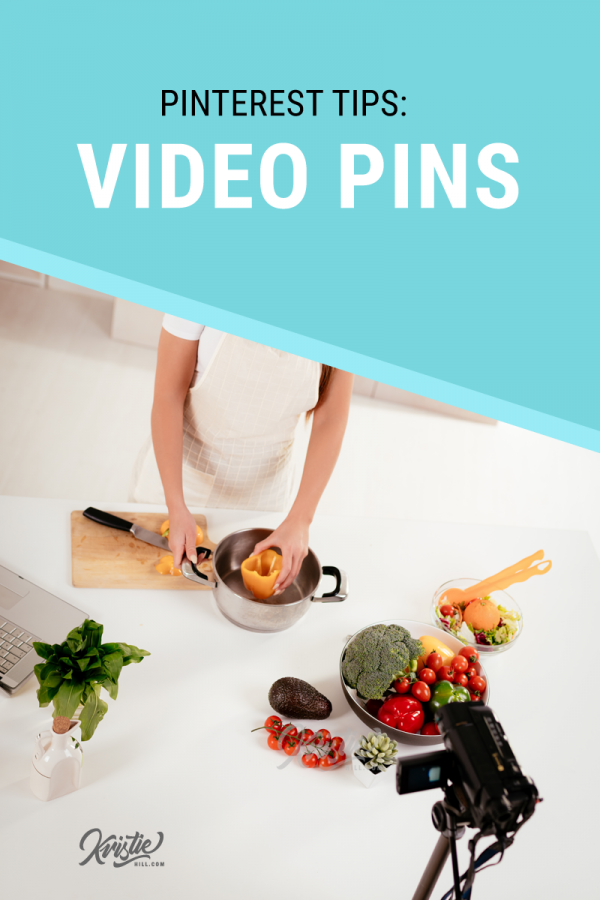 Blogger making video, text overlay: learn how to make Video Pins